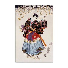 <strong>iCanvasArt</strong> Samurai with Two Swords Japanese Woodblock Canvas Wall Art