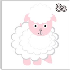 S is for Sheep Canvas Wall Art