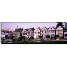 <strong>iCanvasArt</strong> Postcard Row, Alamo Square, San Francisco California Canvas Wall Art