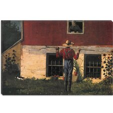 """Rustic Courtship (in the Garden) 1874"" Canvas Wall Art by Winslow Homer"