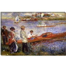 """Rowers at Chatou 1880-1881"" Canvas Wall Art by Auguste Renoir Aka Pierre-Auguste Renoir"
