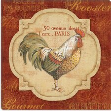 "<strong>iCanvasArt</strong> ""Rue De Rooster"" Canvas Wall Art by Lisa Audit"