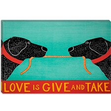 """Love is Give and Take Blacks"" Canvas Print Wall Art by Stephen Huneck"
