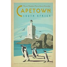 'Capetown, South Africa' by Anderson Design Group Vintage Advertisement on Canvas