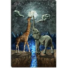 'Magical Forces of the Moon' by Maximilian San Painting Print on Canvas