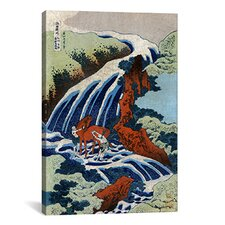 Ando Hiroshige 'Yoshitsune Umarai Waterfall at Yashino In Washu, 1833' by Utagawa Hiroshige I Graphic Art on Canvas
