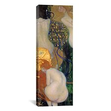 'Goldfish' by Gustav Klimt Painting Print on Canvas