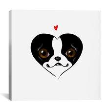 'BT Heart Card' by Brian Rubenacker Graphic Art on Canvas