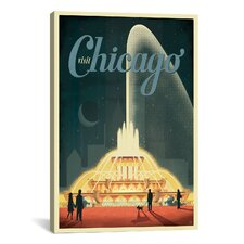 'Buckingham Fountain' by Anderson Design Group Vintage Advertisement on Canvas