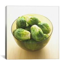 Brussels Sprouts in Bowl Photographic Canvas Wall Art