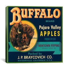 Buffalo Brand Apples Vintage Crate Label Canvas Wall Art