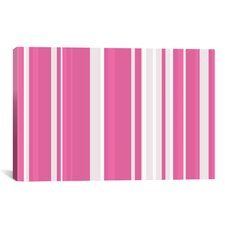 Striped Bubblegum Milkshake Graphic Art on Canvas