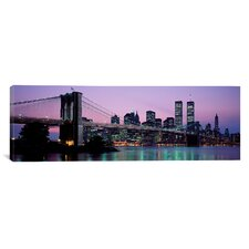 Panoramic Brooklyn Bridge New York Photographic Print on Canvas