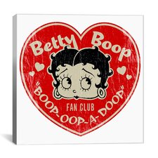 Betty Boop Fan Club - Heart Betty Canvas Wall Art