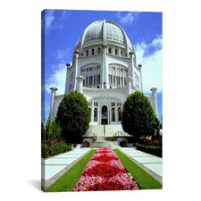 Religion and Spirituality Bahai Temple Chicago Photographic Print on Canvas