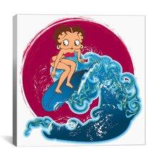 Betty Boop Crashing Waves Canvas Wall Art