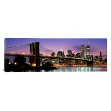 Panoramic Brooklyn Bridge New York Photographic Print on Canvas