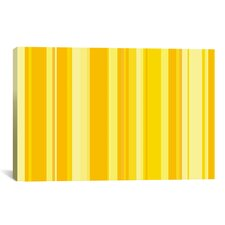 Striped Banana Orange Milkshake Graphic Art on Canvas