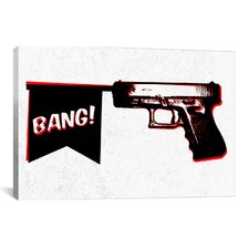 Bang Bang (Pistol) Graphic Art on Canvas
