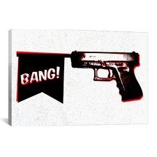 Bang Bang (Pistol) Graphic Art on Canvas