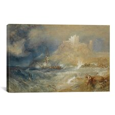 'Bamborough Castle 1827' by Joseph William Turner Painting Print on Canvas