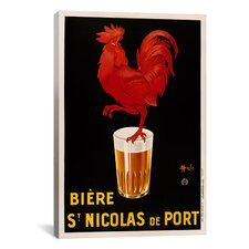 Biere St. Nicolas Vintage Advertisement on Canvas