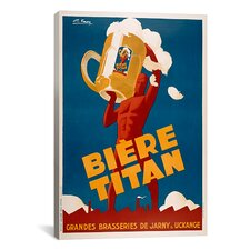 Biere Titan Vintage Advertisement on Canvas