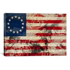 Betsy Ross, U.S. Flag, Stars Graphic Art on Canvas