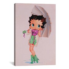 Betty Boop in the Rain Graphic Art on Canvas