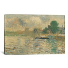 'Berge De La Seine 1884' by Georges Seurat Painting Print on Canvas