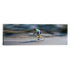 Panoramic Bike Racer Catalonia, Spain Photographic Print on Canvas