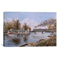'Belle River, Ontario' by Stanton Manolakas Painting Print on Canvas