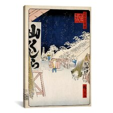'Bikuni Bridge' by Ando Hiroshige Graffic Art on Canvas