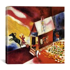 """Burning House, 1913"" Canvas Wall Art by Marc Chagall"