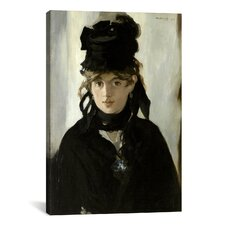 'Berthe Morisot with a Bouquet of Violets' by Edouard Manet Painting Print on Canvas