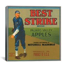 Best Strike Brand Apples Vintage Crate Label Canvas Wall Art