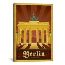 'Berlin, Germany' by Anderson Design Group Vintage Advertisement on Canvas