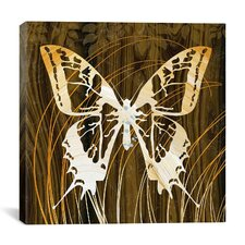 """Butterflies & Leaves I"" Canvas Wall Art by Erin Clark"