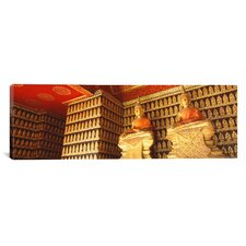 Panoramic Buddhas Wat Xien Thong Luang Prabang Laos Photographic Print on Canvas