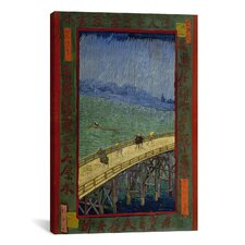 'Bridge in the Rain (After Hiroshige)' by Vincent van Gogh Painting Print on Canvas