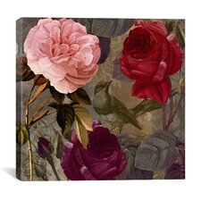 """Birds and Roses"" Canvas Wall Art from Color Bakery"