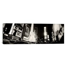 Panoramic Buildings Lit Up At Night, Times Square, New York City, New York Photographic Print on Canvas