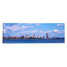 Panoramic Buildings at the Waterfront Buffalo, Niagara River, New York Photographic Print on Canvas