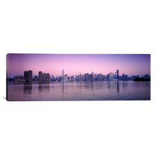 Panoramic Buildings at the Waterfront Viewed from Queens, Empire State Building, Midtown Manhattan, New York City, New York State Photographic Print on Canvas