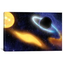 Astronomy and Space Black Hole Eating a Star Wall Art on Canvas
