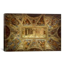 'Ceiling from Room of Constantine' by Raphael Painting Print on Canvas