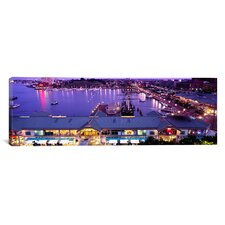 Panoramic Buildings at a Harbor, Inner Harbor, Baltimore, Maryland Photographic Print on Canvas