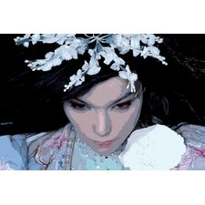 Music Bjork Painting Print on Canvas