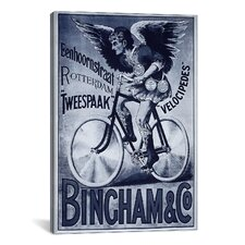 Bincham and Co. Bicycle Vintage Advertisement on Canvas