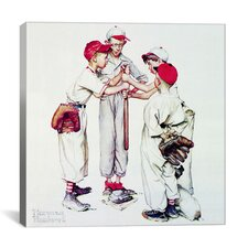 'Choosing up (Four Sporting Boys: Baseball)' by Norman Rockwell Painting Print on Canvas